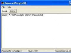 wxPostgreSQL 1.0 Screenshot