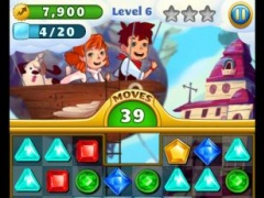 Review Screenshot - Match-3 Game – Match Gems and Collect Your Bounty