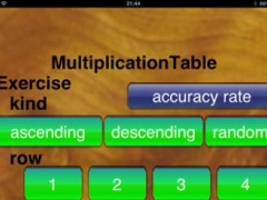 Multiplication Table 12×12 for iPad 4.6 Screenshot