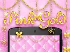 PinkGold GO Keyboard Theme 3.8 Screenshot