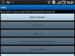 Xvnc:X/X11 server w VNC backnd 2.0 Screenshot
