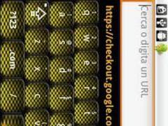 Yellow Carbon Keyboard Skin 1 Screenshot