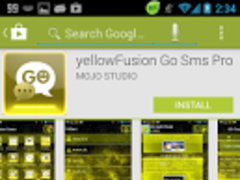 yellowFusion Go Keyboard 1.1 Screenshot