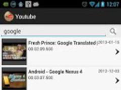 youtube widget 1.03 Screenshot