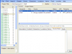 yWriter5 5.2.1.2 Screenshot