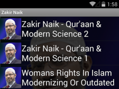 Zakir Naik Audio Video Bayan 1.4 Screenshot