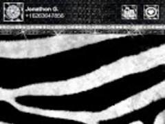 Zebra Black White 4 GO SMS PRO 1.0 Screenshot