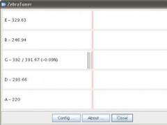 ZebraTuner (guitar tuner) 0.9.0.1 Screenshot