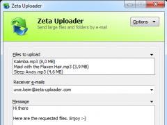 Zeta Uploader - Send large Files online 2.1.0.80 Screenshot