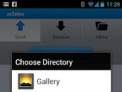 ZeZebra Share big video files 1.0.6.56 Screenshot