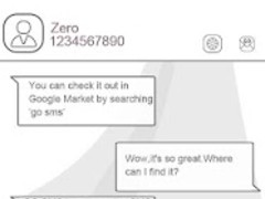 ZLINES GO SMS Theme 1.0 Screenshot