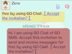 ZLOTUS swan GO SMS Theme 1.0 Screenshot