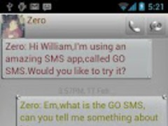 ZMetal Theme GO SMS 1.0 Screenshot