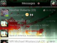 Zombie ICS GO SMS Theme 2.0 Screenshot
