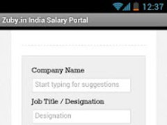 Zuby.in India Salary Portal 1.0 Screenshot